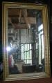 Specchio cornice oro (60x100)