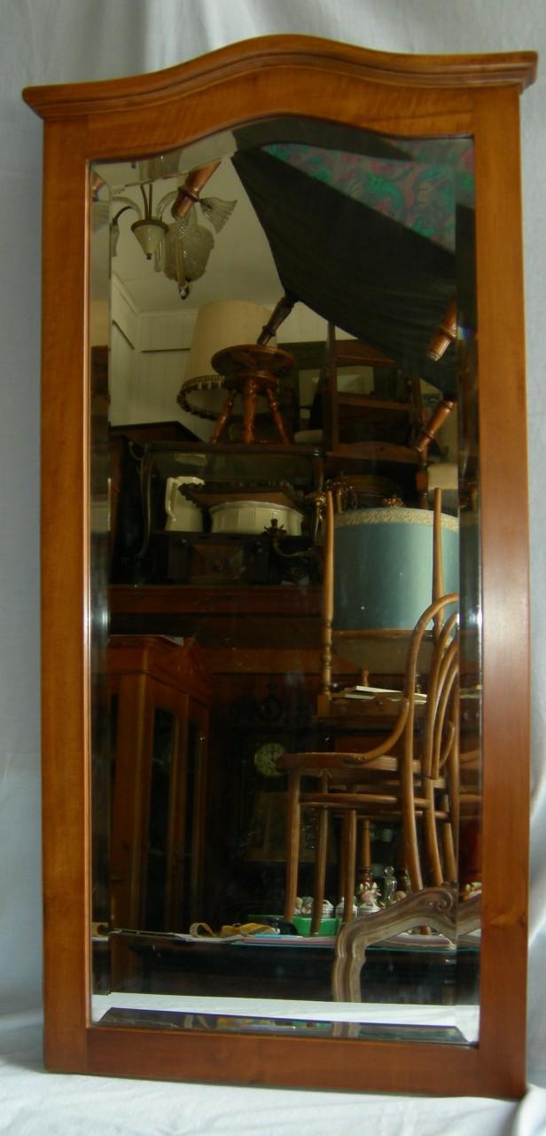 Specchio noce 1930 47x102h brocante mollard for Specchio noce