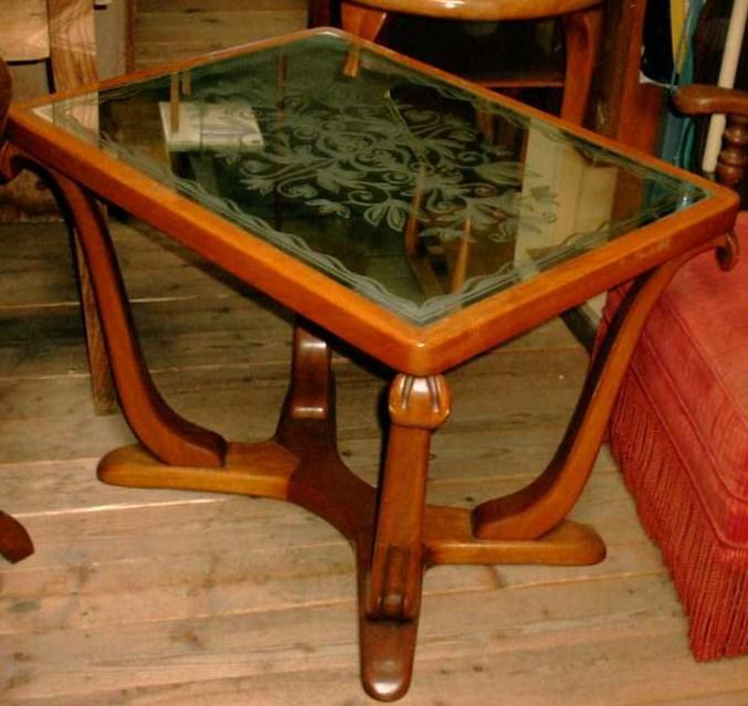 Tavolo salotto specchio legno anni 39 40 80x60 brocante for Tavolo 40 anni