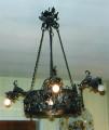 Lampadario metallo 5 luci 1920 Ca