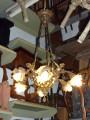 Lampadario Luigi XV ottone  7 luci