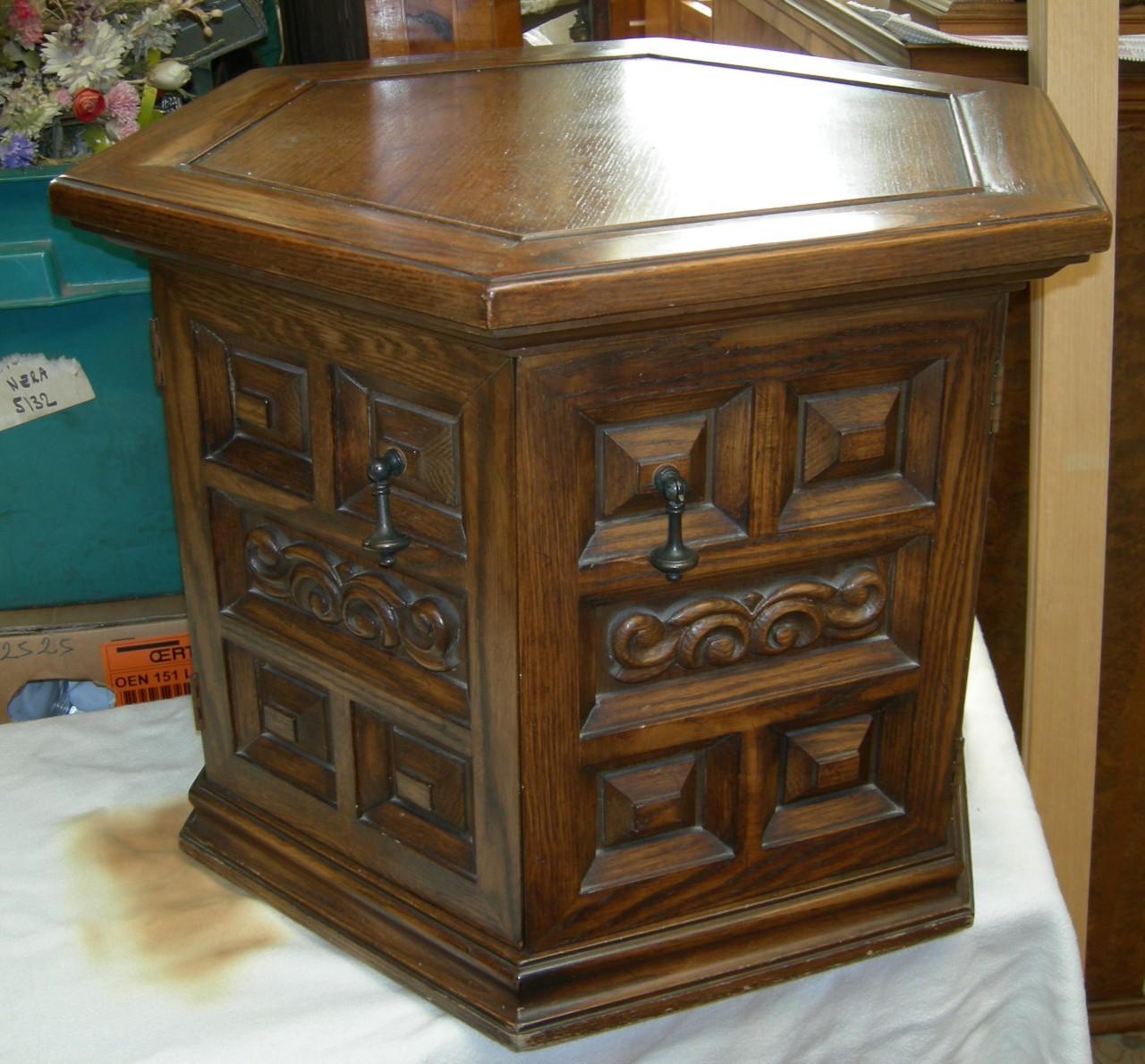 Tavolino da salotto esagonale da rinfrescare - Brocante ...