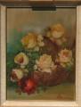 Quadro cestino con fiori recisi (40x30)