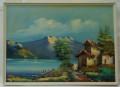 Quadro casa sul lago