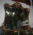 Specchio con cornice Barocca bronzata '30 (100x100)