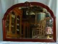 Specchio arrotondato mogano 1930 (95x70)
