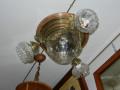 plafoniera 4 luci vetri incisi