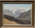 Quadro paesaggio alpino svizzero (44x57)