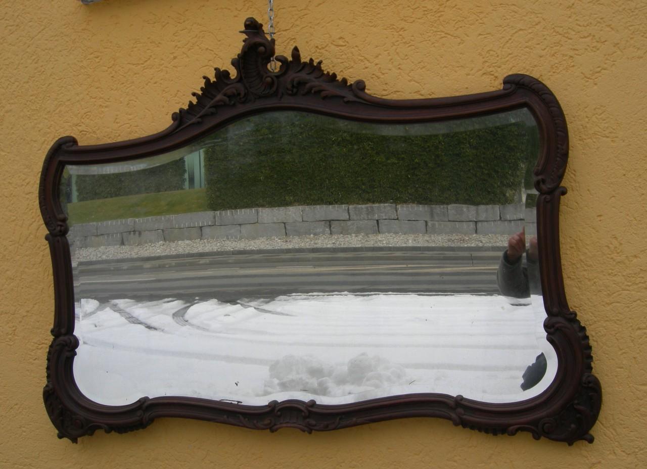 Specchio barocco noce 130x95 brocante mollard for Specchio noce