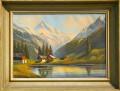 Quadro paesaggio alpino Vallese
