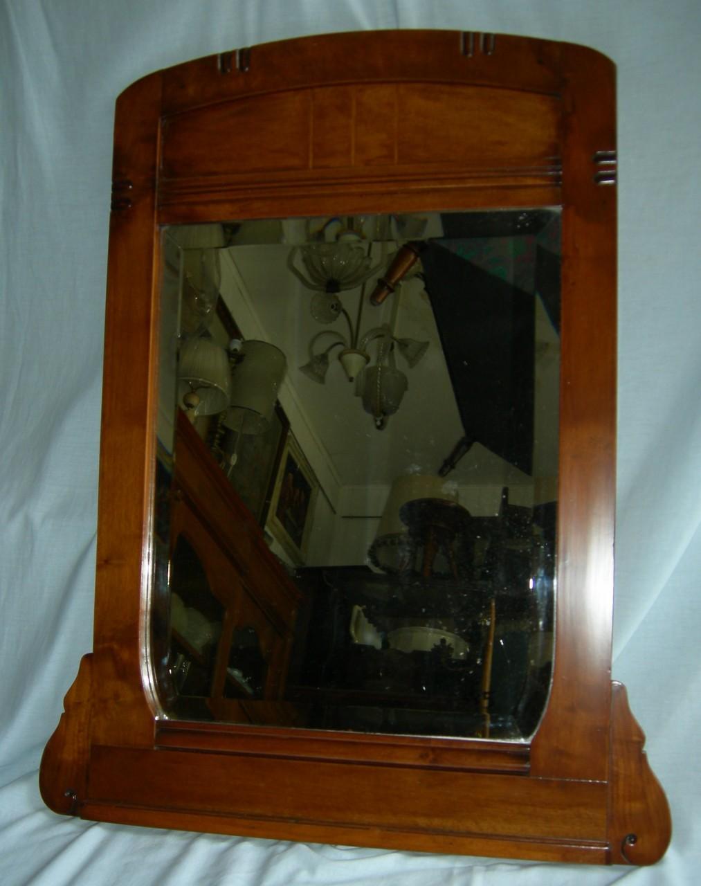 Specchio cornice noce 1900 66x84 brocante mollard for Specchio 1900