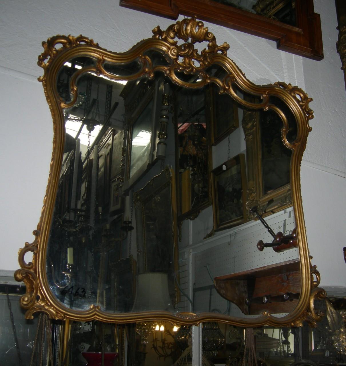 Specchio con cornice barocca bronzata 39 30 100x100 - Specchio cornice nera barocca ...